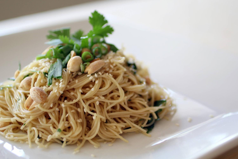 Thai Noodle Salad with Jalapeno Garlic